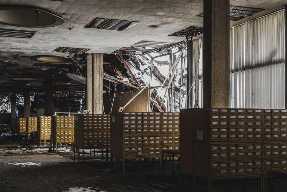 Как выглядит библиотека ИНИОН РАН через 9дней после пожара. Изображение № 10.