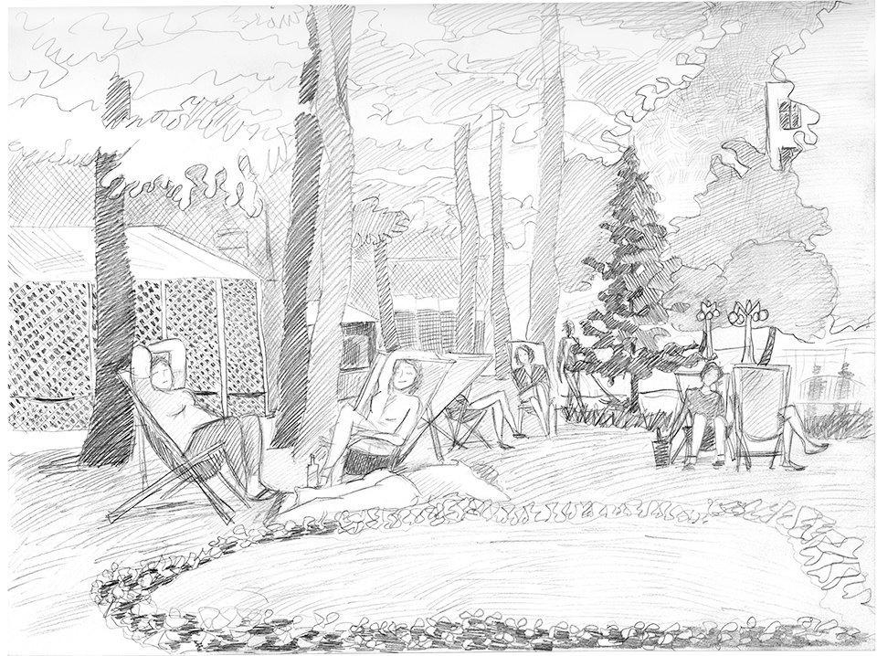 Клуб рисовальщиков: Сад «Эрмитаж». Изображение № 2.