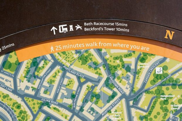 Система навигации в Бате (Великобритания) City ID, 2009. Изображение № 8.