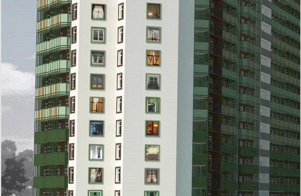 Художники нарисуют окна нажилом комплексе вМурино. Изображение № 2.