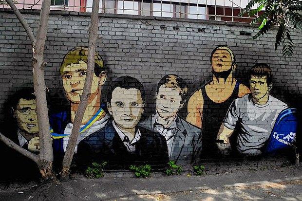 На Жилянской появились граффити с портретами украинских спортсменов. Зображення № 5.