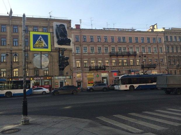 Новые светофоры рядом со«Стокманном» обещают подключить вноябре. Изображение № 2.