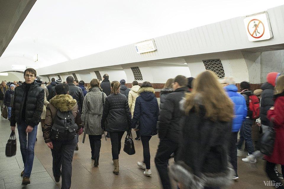 Фоторепортаж: Час пик на станции «Выхино». Изображение № 16.