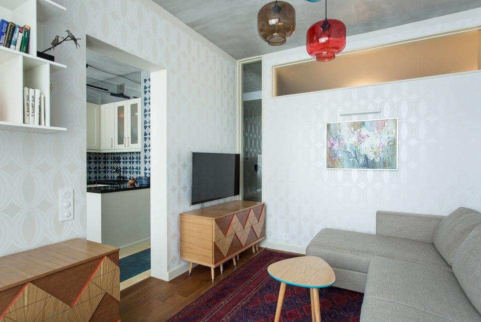 Трёхкомнатная квартира в духе модернизма на «Октябрьском поле». Изображение № 13.
