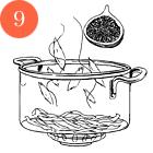 Рецепты шефов: Тёплый салат суткой, капустой, инжиром и яблоками. Изображение № 12.