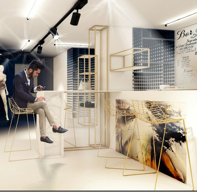 Визуализация помещения магазина. Изображение № 1.