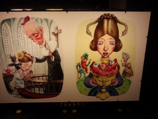 Издание «Гамлета» с откровенными иллюстрациями изъяли с детской выставки. Изображение № 3.