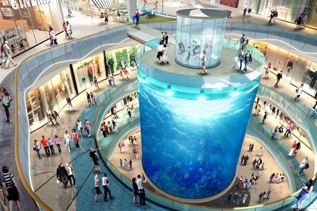 На Кутузовском проспекте построят торговый центр с огромным аквариумом. Изображение № 1.