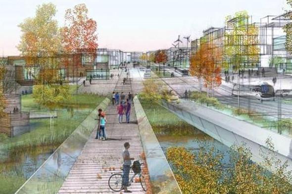 Проект «Сколково» станет энергоэффективным, экологическим комплексом с инфраструктурой для пешеходов. Изображение №9.