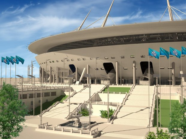 Опубликованы финальные рендеры строящегося стадиона наКрестовском. Изображение № 5.