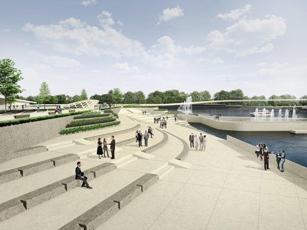 Объявлен победитель пятого конкурса концепций набережной для «Лахта центра». Изображение № 1.