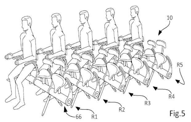 Airbus запатентовала велосипедные сиденья для самолётов. Изображение № 1.