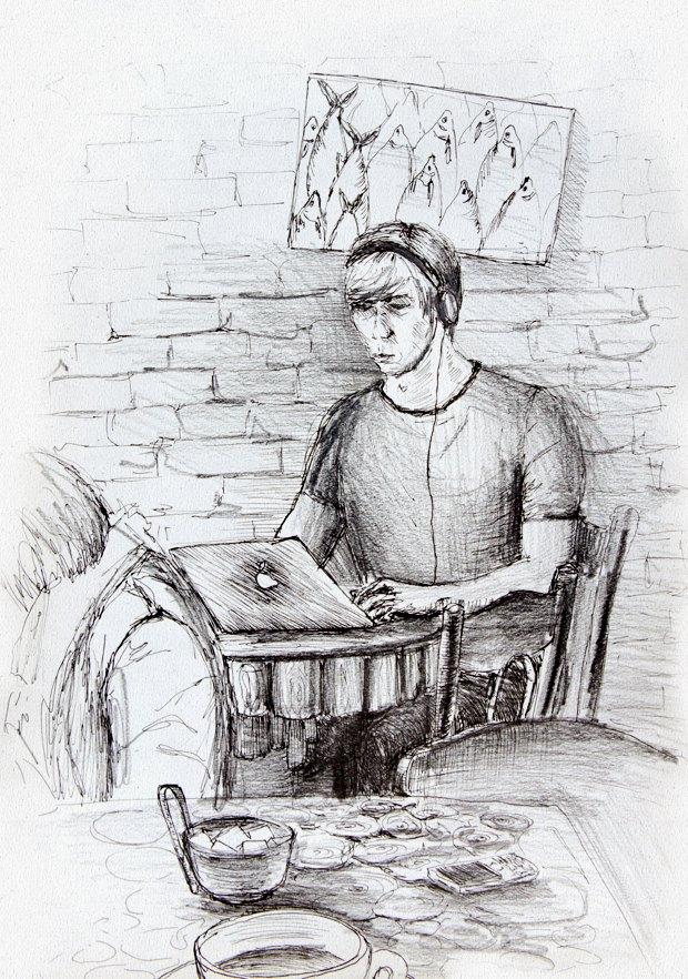 Клуб рисовальщиков: Кофейня LES. Изображение №3.