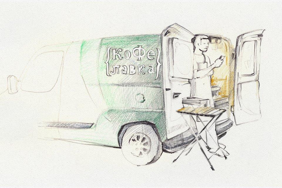 Клуб рисовальщиков: Городской маркет еды на Соколе. Изображение № 1.