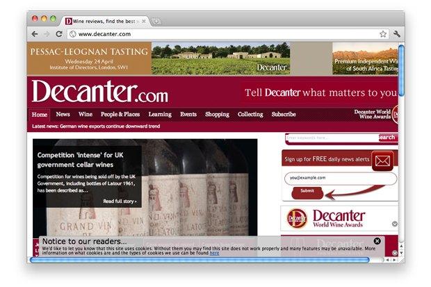 Британское издание Decanter. Изображение № 3.