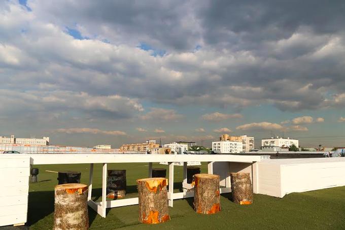 В торговом центре «Парк 11» открывается пространство для отдыха «Арт-Крыша». Изображение № 1.