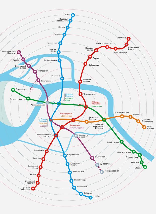 Карты на стол: 11 альтернативных схем петербургского метро. Изображение №14.