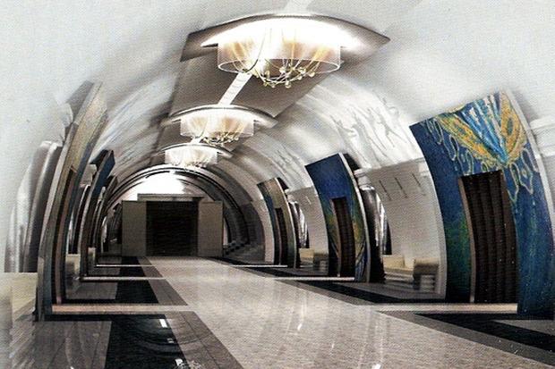 Интерьеры метро «Театральная» показали городу. Изображение № 1.