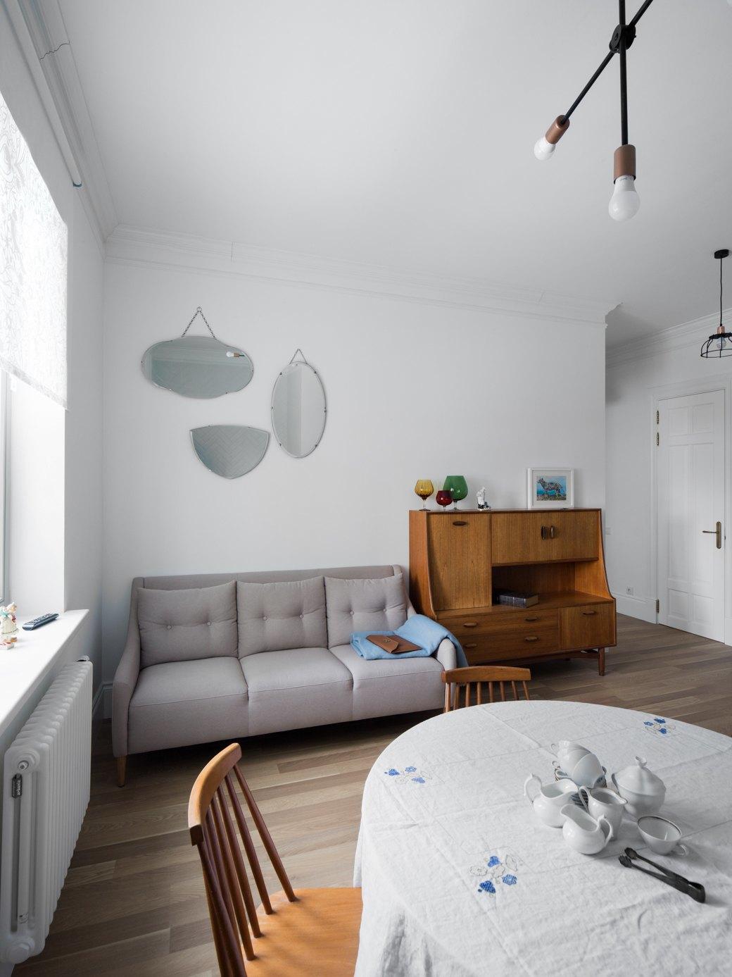 Лаконичная квартира вшведском стиле вновом доме наПетроградской стороне (Петербург). Изображение № 3.