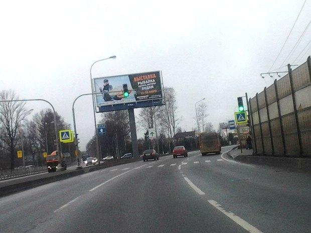 На опасном переходе Приморского шоссе установили светофор. Изображение № 1.