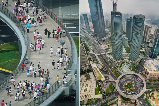 Идеи для города: Круглый пешеходный мост в Шанхае. Изображение № 10.