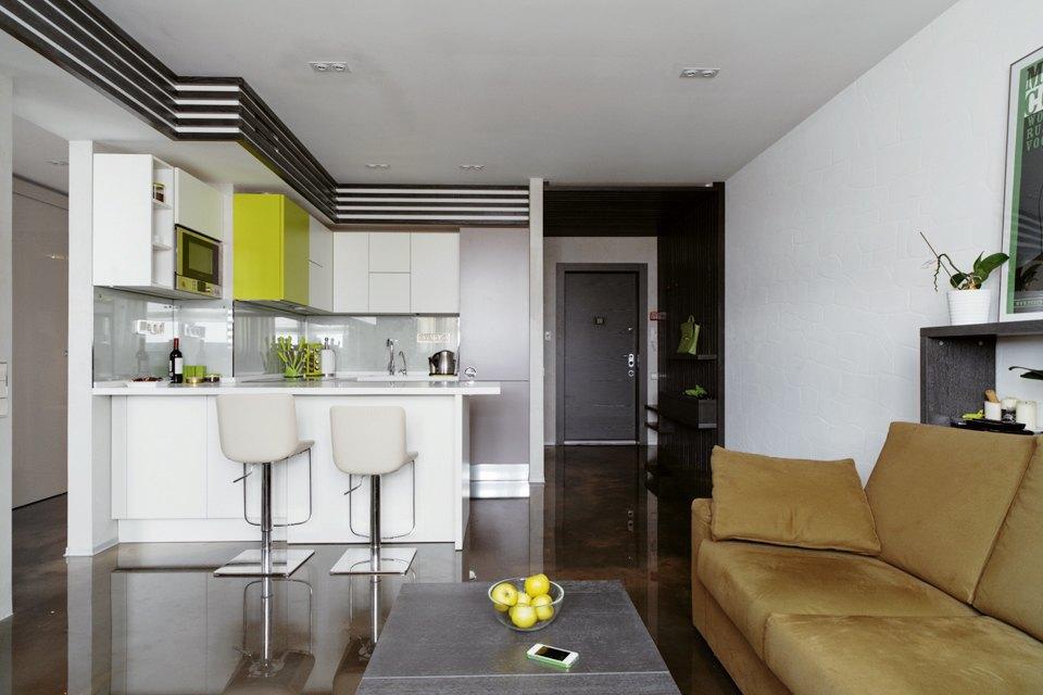 Трёхкомнатная квартира сэклектичным интерьером. Изображение № 2.