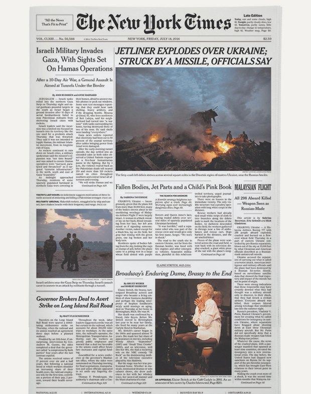 Авиакатастрофа под Донецком на первых полосах газет. Изображение № 12.