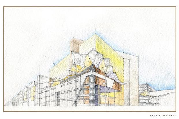 Архитектурное решение комплекса фондохранилища. Вариант 2. Изображение № 6.