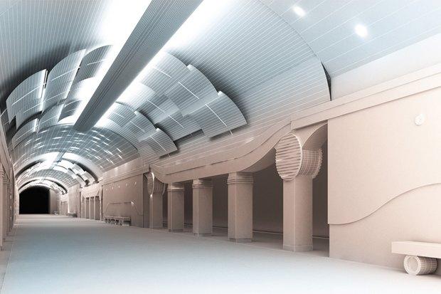 Перспектива центрального зала «Шкиперской». Изображение № 3.