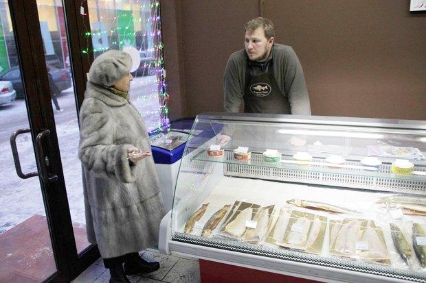 На «Соколе» открылась лавка с сибирской рыбой. Изображение № 4.