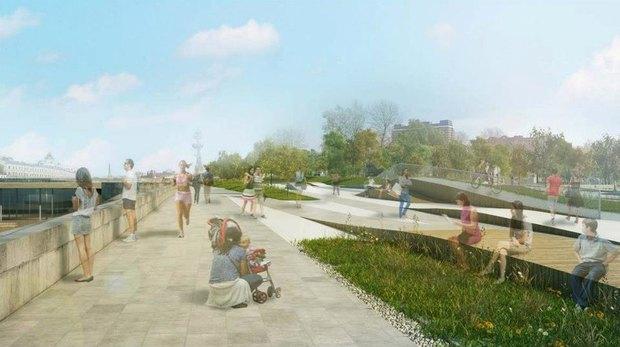 Власти представили проект благоустройства Крымской набережной. Изображение № 3.