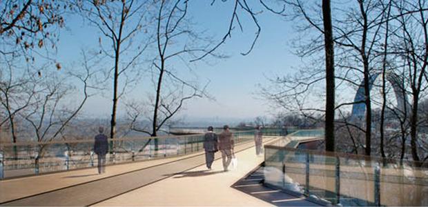 Вид с Владимирской горки на мост. Изображение № 1.