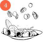 Рецепты шефов: Салат с индейкой, виноградом, сыром грюйер и орехами пекан. Изображение № 6.