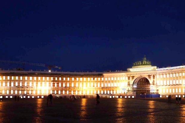 На ночь глядя: 12 проектов подсветки Главного штаба. Изображение № 73.