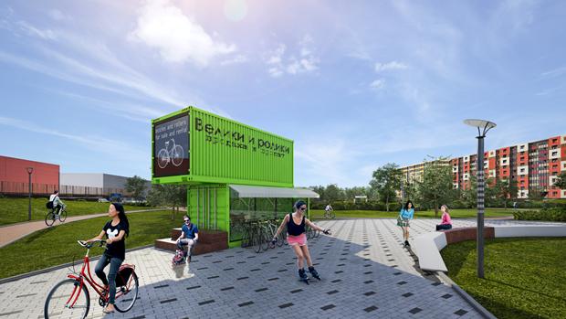У«Мега Дыбенко» разобьют парк. Изображение № 2.