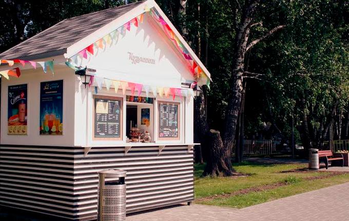 Киоск Hamam burger, пивной бар Cans&Beer, ресторан «Семирамис» икафе «Счастье незагорами» . Изображение № 6.