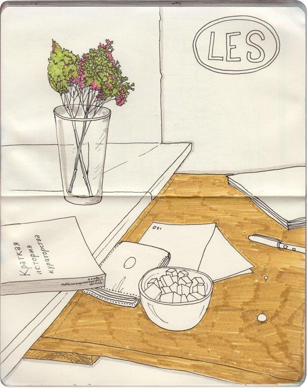 Клуб рисовальщиков: Кофейня LES. Изображение №7.