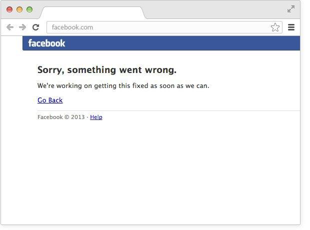 Facebook неоткрывается. Изображение № 1.