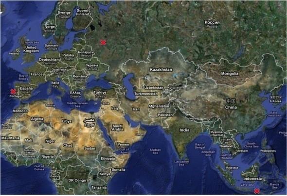 Для жителей центральной Росии побережье Атлантики ближе чем Индийский океан почти на 5 000 км.. Изображение № 1.