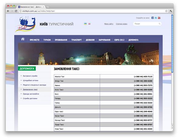 В Киеве запустили сайт для туристов. Зображення № 3.
