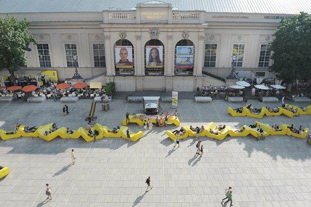 В парке Горького установят скамейки-конструкторы из Вены. Изображение № 5.