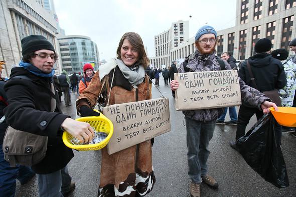 Митинг «За честные выборы» на проспекте Сахарова: Фоторепортаж, пожелания москвичей и соцопрос. Изображение № 6.