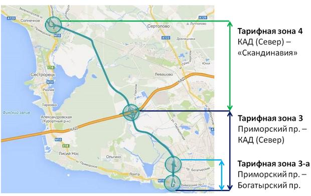 С 15 мая будут действовать новые тарифы на проезд по ЗСД. Изображение № 2.