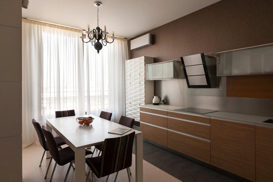 Трёхкомнатная квартира сострогим интерьером. Изображение № 11.