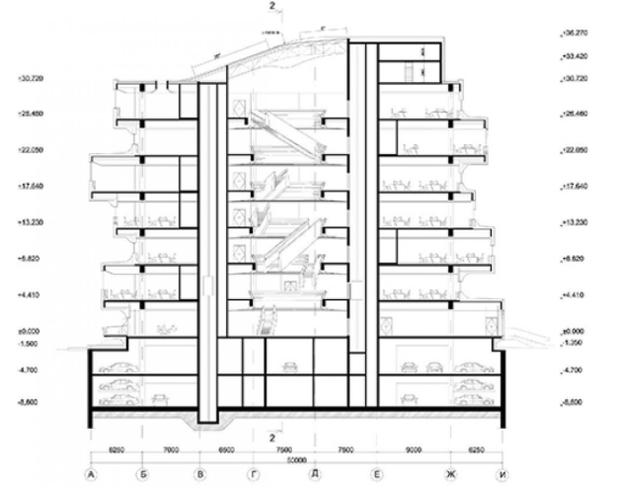 Первое в Москве здание попроекту Захи Хадид сдадут вэксплуатацию всентябре. Изображение № 5.