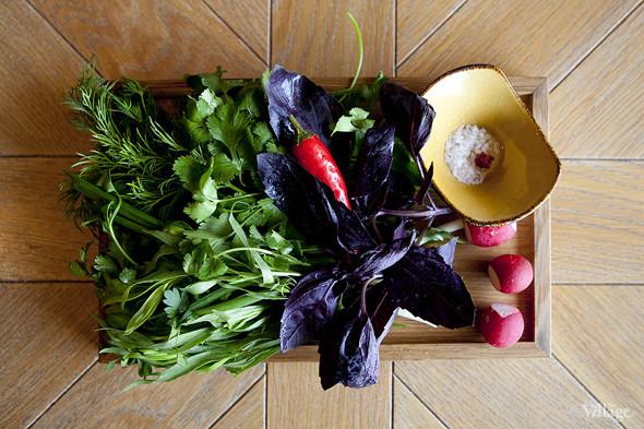 Ассорти из свежей зелени: кинза, укроп, петрушка, базилик, лук зелёный, тархун —280 рублей. Изображение № 33.
