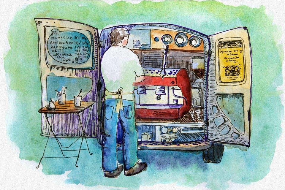 Клуб рисовальщиков: Городской маркет еды на Соколе. Изображение № 2.
