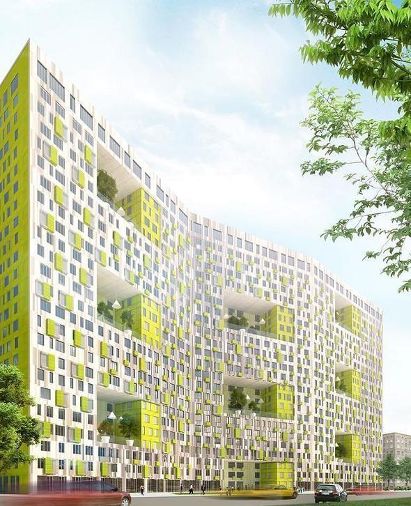 Изображение 4. В Москве построят многоэтажку с зелёными дворами на разных этажах.. Изображение №2.