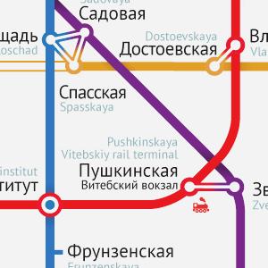 Карты на стол: 11 альтернативных схем петербургского метро. Изображение №21.