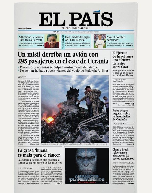 Авиакатастрофа под Донецком на первых полосах газет. Изображение № 15.